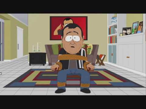 Carlos Mencia in South park, tells how He invented the fishstick joke