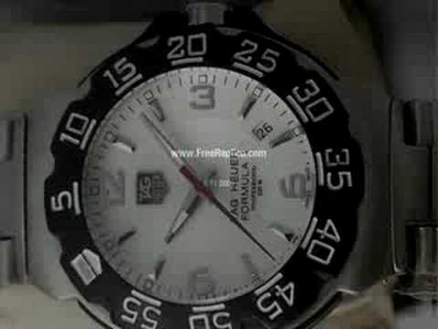 Tag Heuer White Dial Stick Marker Steel Replica collection