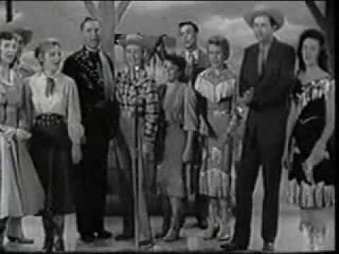 Johnny Bond , Wesley Tuttle & Joe Mathis sing The Blue Tail Fly on Ranch Party ( (1957 )