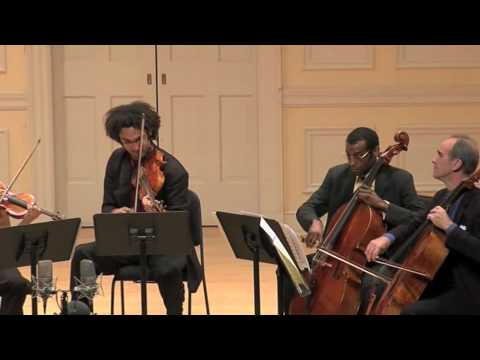 Schubert Quintet mvt4 (Harlem Quartet on Stradivarius` & Carter Brey)