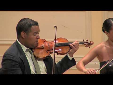 Schubert Quintet Mvt2-Part2 (Harlem Quartet on Stradivarius` & Carter Brey)