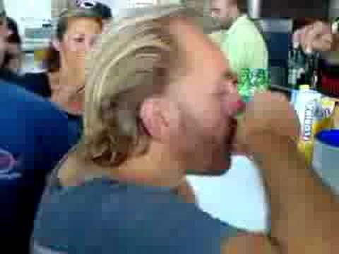 Sven Vath Live @ Cavo Paradiso, drinking shots in the Bar !!