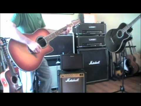Roland AC60 Acoustic Guitar Amplifier (w/Ovation 12 string) Demo/Review