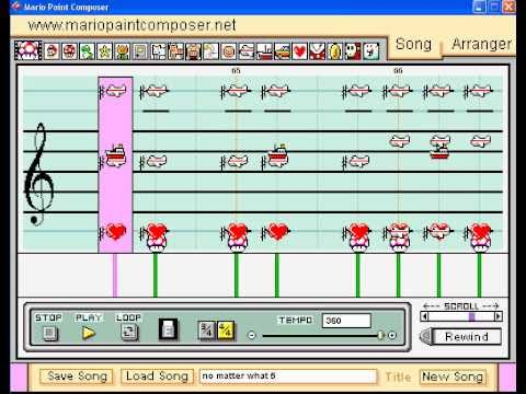 """Mario Paint Composer : """" No Matter What """" - Ready the Cannons ( by Jason Hackett ) ((update))"""