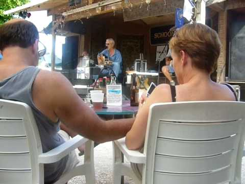 Michael McCloud does the CONCH REPUBLIC NATIONAL ANTHEM at Schooner Wharf in KEY WEST