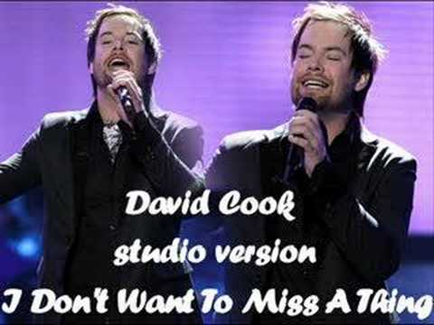 David Cook - I Don`t Want To Miss A Thing (studio version)