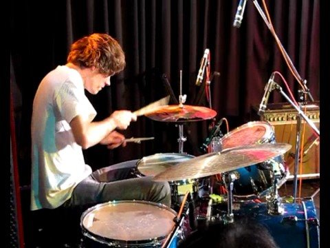 Greg Saunier drumming