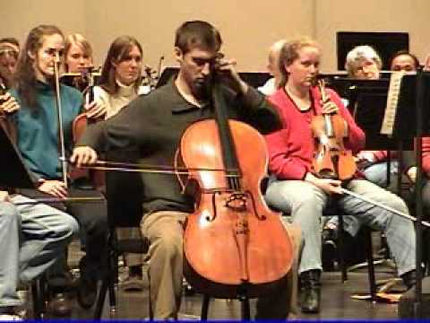Tchaikovsky Rococo Variations - Alexander VanDorpe, Cello - Des Moines Symphony, 2006 Part 2.wmv