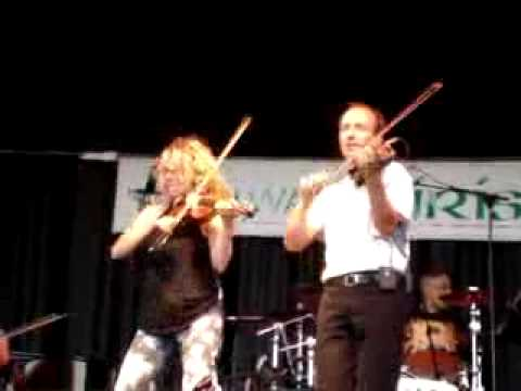 Natalie MacMaster and Donnell Leahy at Milwaukee Irish Fest 09