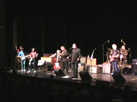 Sam and Luke with the Downchild Blues Band