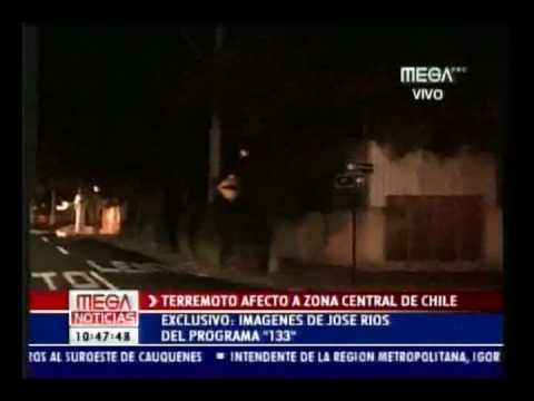 EARTHQUAKE CHILE 2010 TERREMOTO VIDEO FOOTAGE CAUGHT ON TAPE - VIDEO AFICIONADO - SISMO CHILE