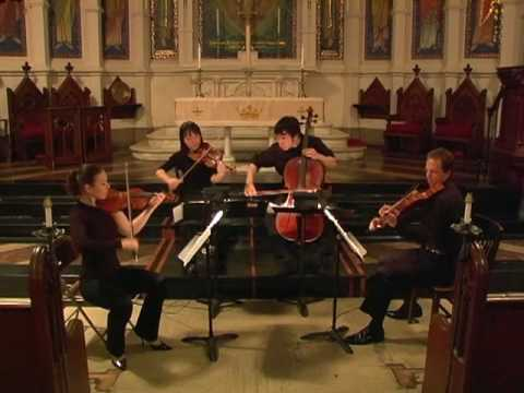 Attacca Quartet plays Haydn String Quartet in D, Op. 20 no. 4 - First Movement