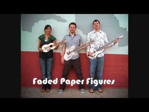 Faded Paper Figures Red State
