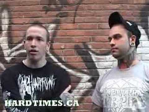 For the Fallen Dreams video Interview Hardtimes.ca