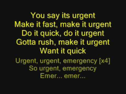 Foreigner - Urgent with lyrics