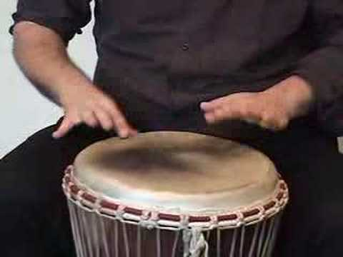 Rich Zukor from the Frank Vignola Quintet - djembe lesson