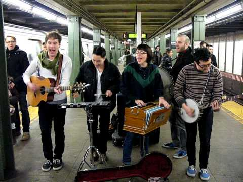 FREELANCE WHALES generator ^ first floor BEDFORD L SUBWAY PLATFORM Brooklyn NYC March 2 2010