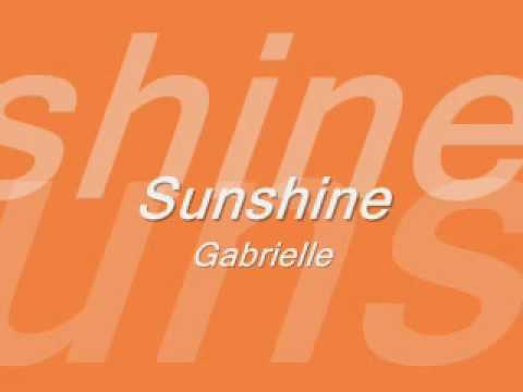 Gabrielle - Sunshine [with lyrics]