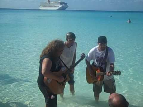Gareth Asher performing in the water at Half Moon Cay - Simple Man Cruise 2009