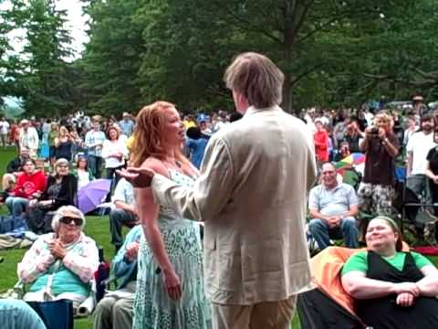 Garrison Keillor & Andra Suchy at Tanglewood
