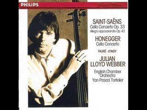 British cellist Lloyd Webber plays Saint Saens Concerto