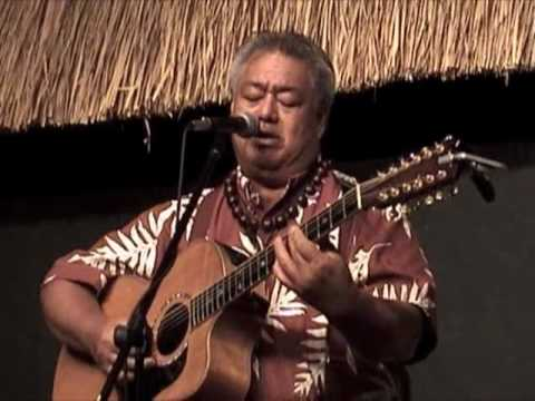 "George Kahumoku Jr sings ""Hale Olu"" as host of the Slack Key Show"