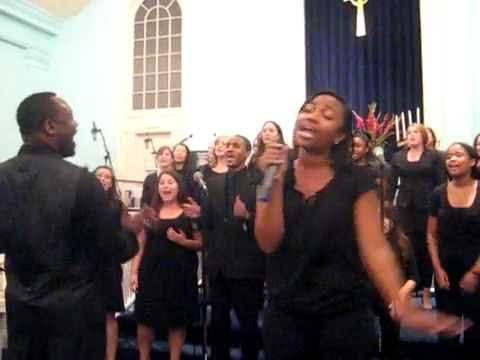 American University Gospel Choir - Byron Cage - I Will Bless the Lord (Fall 2010)