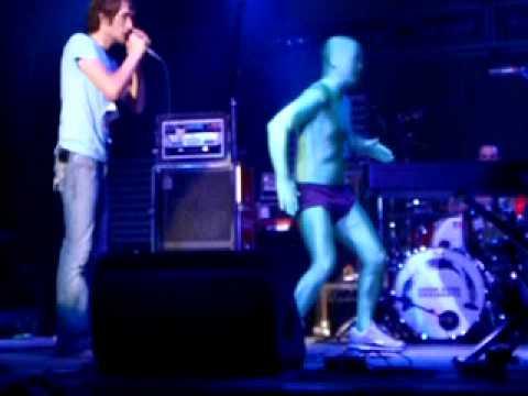 "David Cook as the Dancing ""Green Man"""