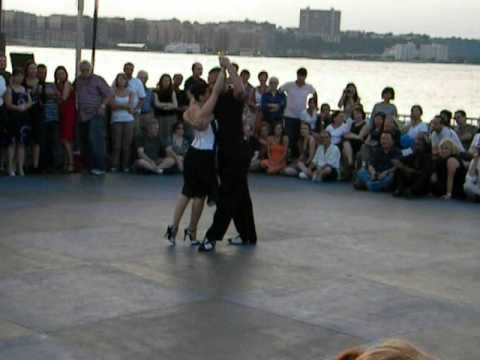 Guillermina Quiroga and Junior Cervila in NYC at Pier 54