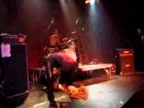 Billy (Bass Wolf) Smashing his Bass Guitar