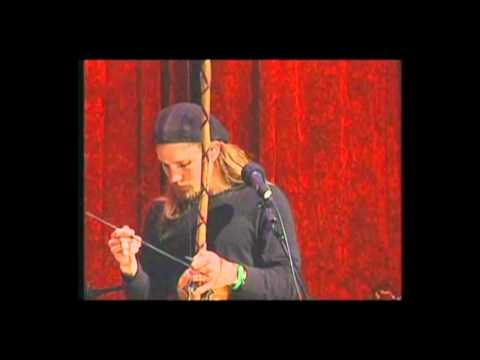 Guy Mendilow demonstrates berimbau and overtone singing on Woodsongs Old Time Radio Hour.wmv