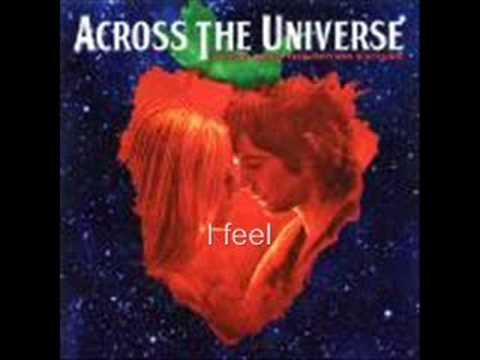 Across the universe- I want to hold your hand (lyrics)