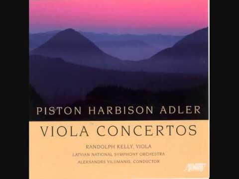 SAMUEL ADLER: Viola Concerto (1999): Movement I