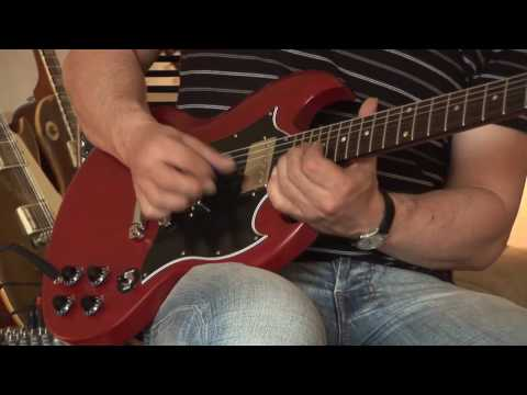 """Gibson SG Special worn cherry with handmade Barfuss """"Greeny"""" Pickups Part 1"""