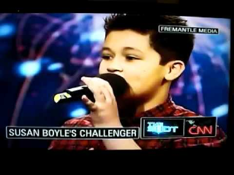12-year-old Boy Challenging Susan Boyle, While CNN Makes Fun of Simon Cowell