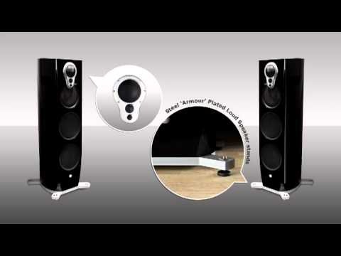 Linn Klimax 350a Black loudspeakers with stands