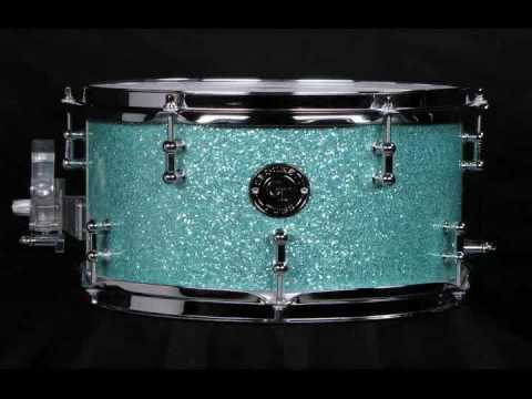 "Crockett Tubs 7x12"" Maple 6ply Turquoise Glass Glitter"