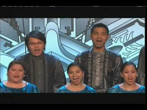Philippine Chamber Singers of Los Angeles sings at the 50th annual LA County Holiday Celebration