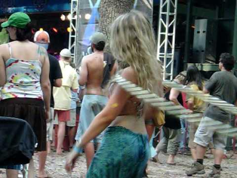 Wanee Fest 2010 Sexy Hippie Hula Hoop Girl w/ Mofro