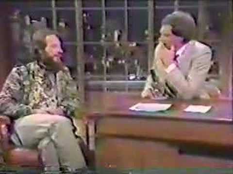 Ian Anderson on David Letterman show 1982 Part 1