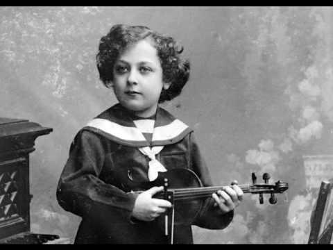 (Very Rare!!) Jascha Heifetz (age 11!) - Mozart `Gavotte in G` from `Idomeneo` (1912)