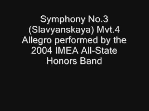 Symphony No. 3(Slavyanskaya) Mvt 4 Allegro