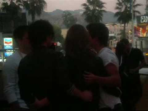 Taylor Lautner, Ashley Greene, and Jackson Rathbone @ Hollywood and Highland