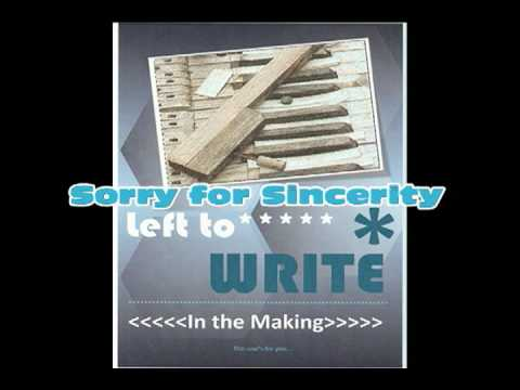 Sorry for Sincerity