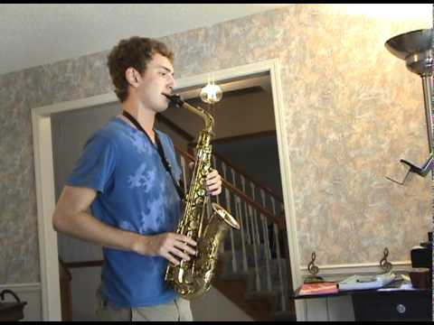 "Connor Bowman alto saxophone-""Billie`s Bounce"" by Charlie Parker"