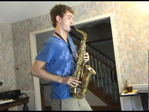 "Connor Bowman alto saxophone-""Donna Lee"" by Charlie Parker"