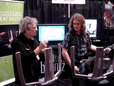 David Ellefson & Jerry Riopelle - Beamz Demonstration - 2010 NAMM