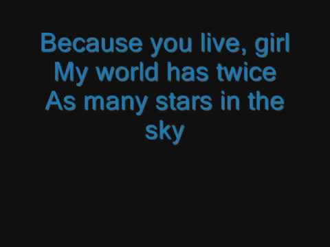 Jesse Mccartney - because you live lyrics