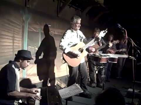 Steve Weisberg and Steve Weisberg meet onstage at Jim Curry`s John Denver tribute show