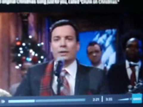 Jimmy Fallon Drunk on Christmas song